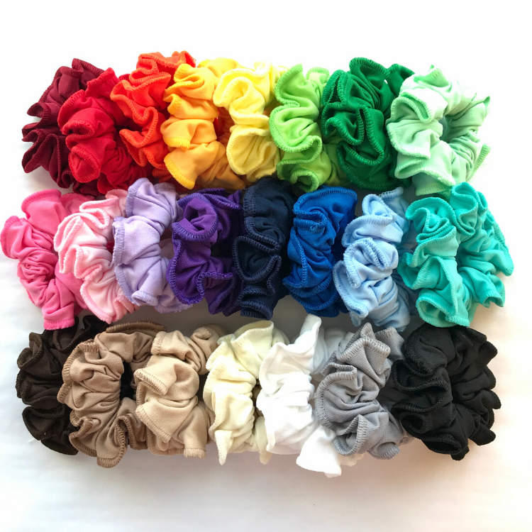 Rainbow of Hair Scrunchies