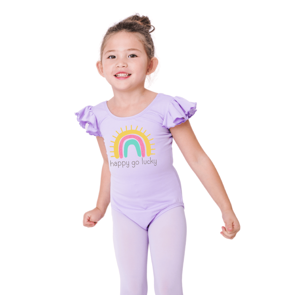 Happy Go Lucky Rainbow Leotard for Girls and Toddlers