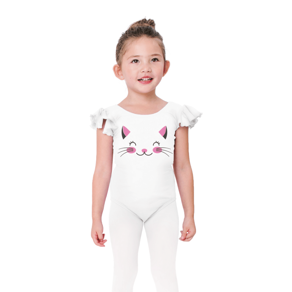 Kitten Face Dance Leotard for Girls and Toddlers