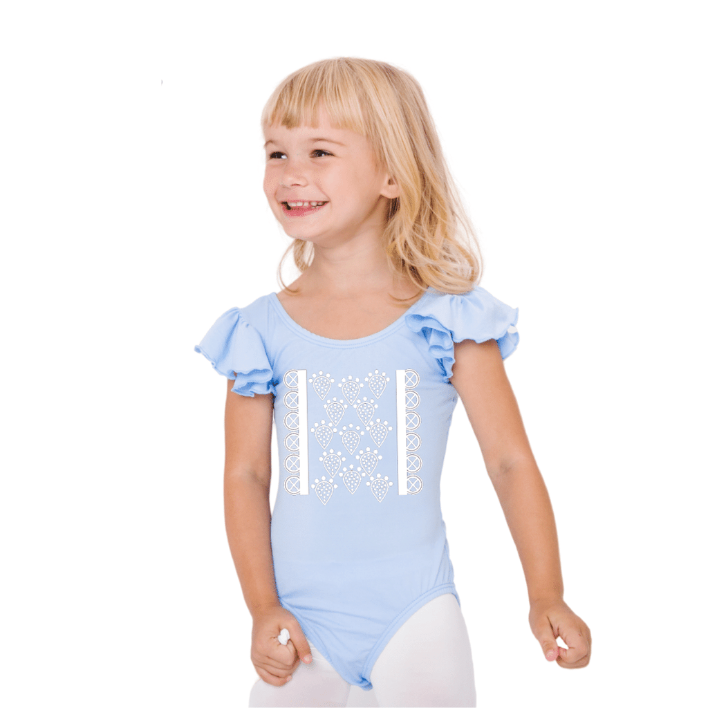 Little Bo-Peep Themed Dance Leotard Costume for Girls and Toddlers