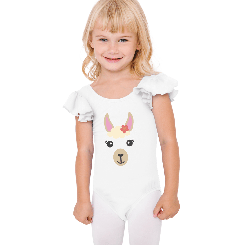 Llama Face Dance and Gymnastics Leotard for Girls and Toddlers