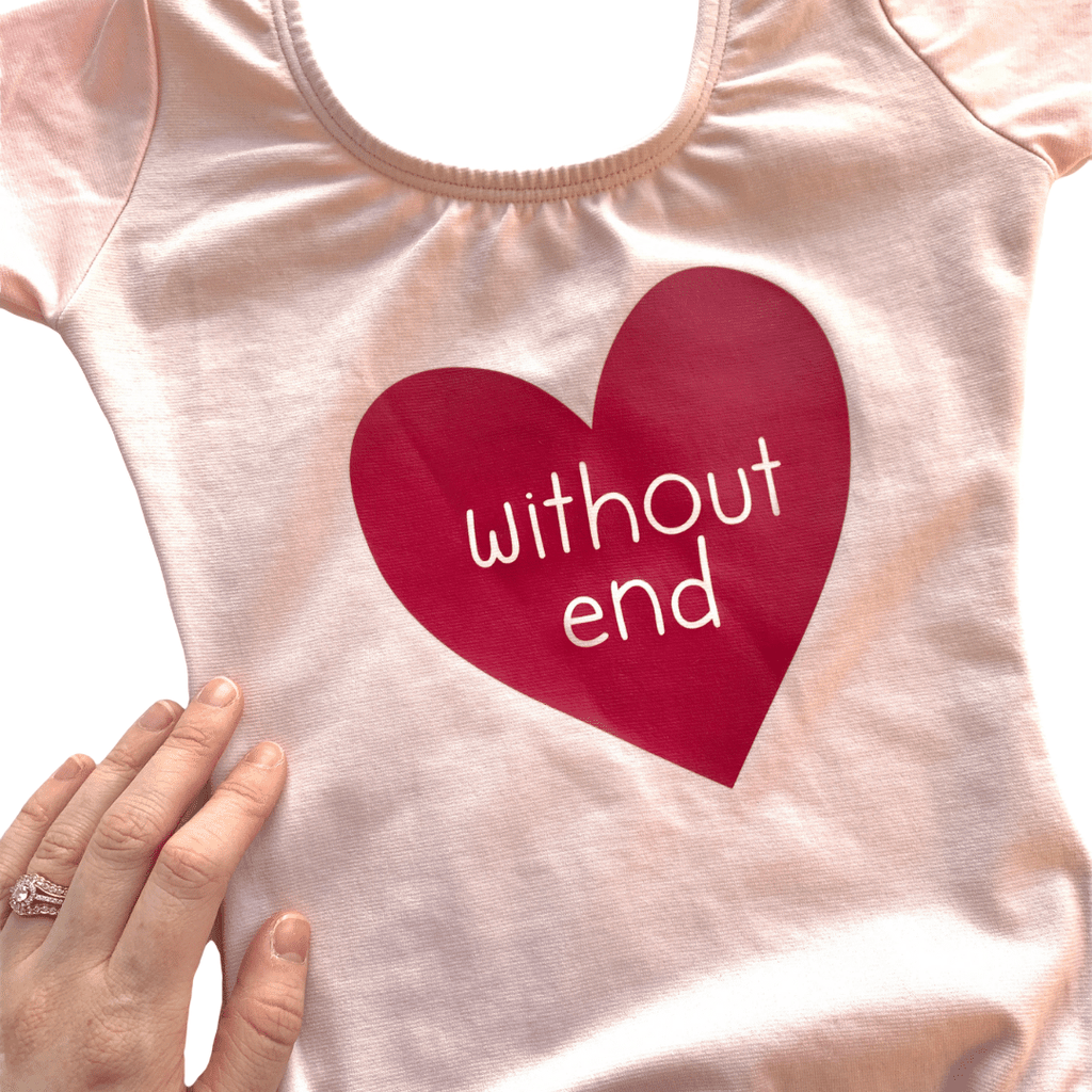 Love Without End Dance and Gymnastics Leotard for Girls and Toddlers