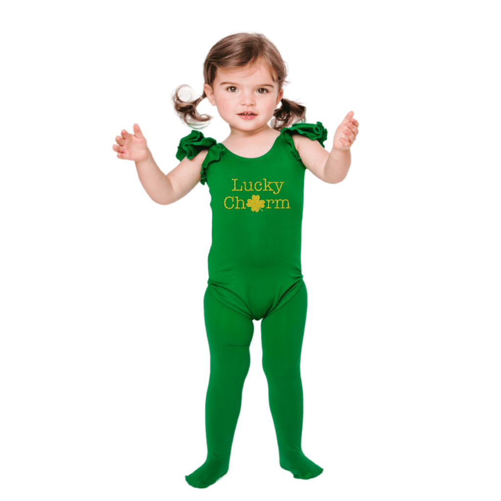 Lucky Charm St Patricks Day Dance Leotard for Girls and Toddlers