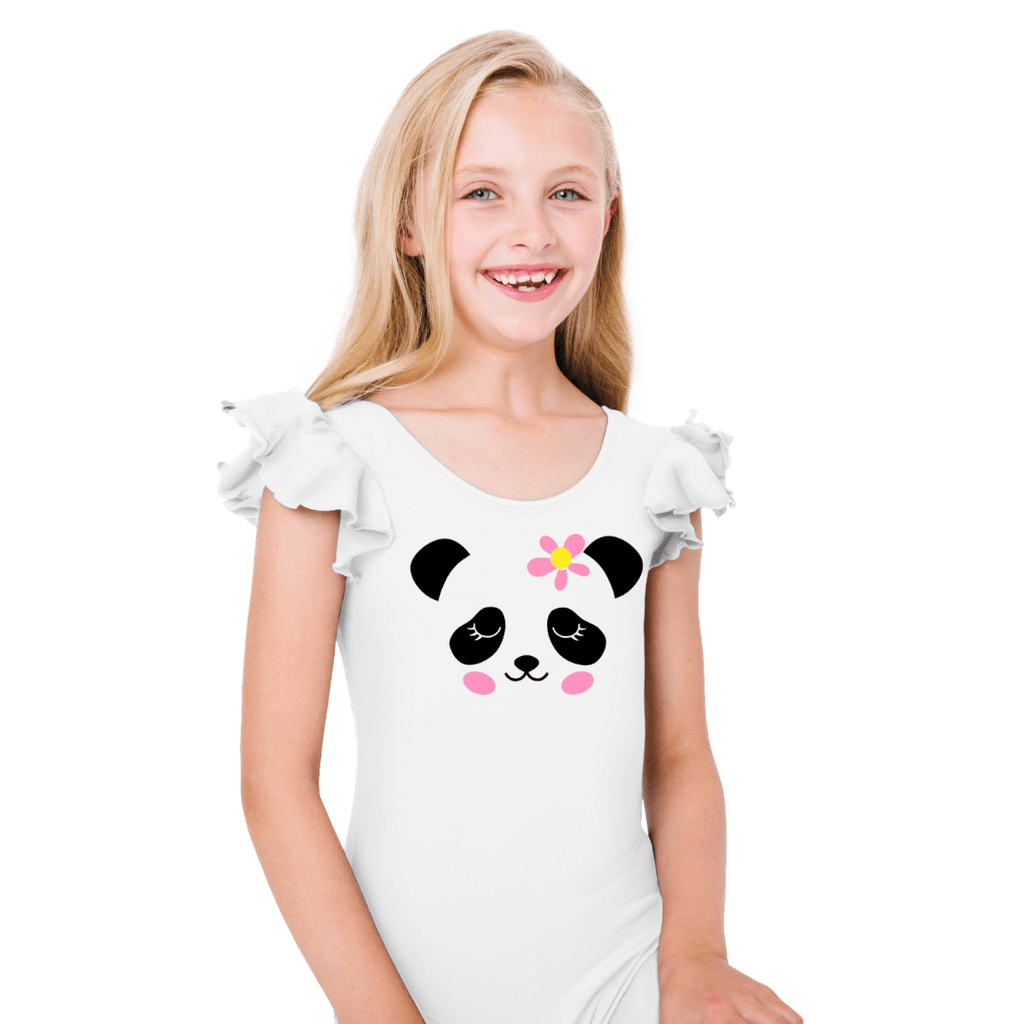 Panda Face Leotard for Dance and Gymnastics for Girls and Toddlers
