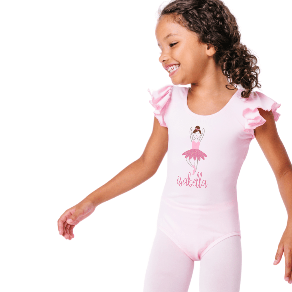 Personalized Ballet Dancer Leotard for Girls and Toddlers