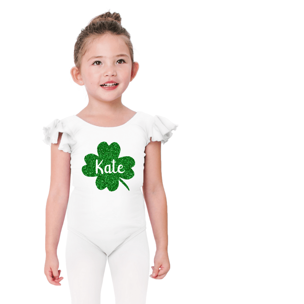 Personalized Shamrock Leotard for Girls St Patricks Day