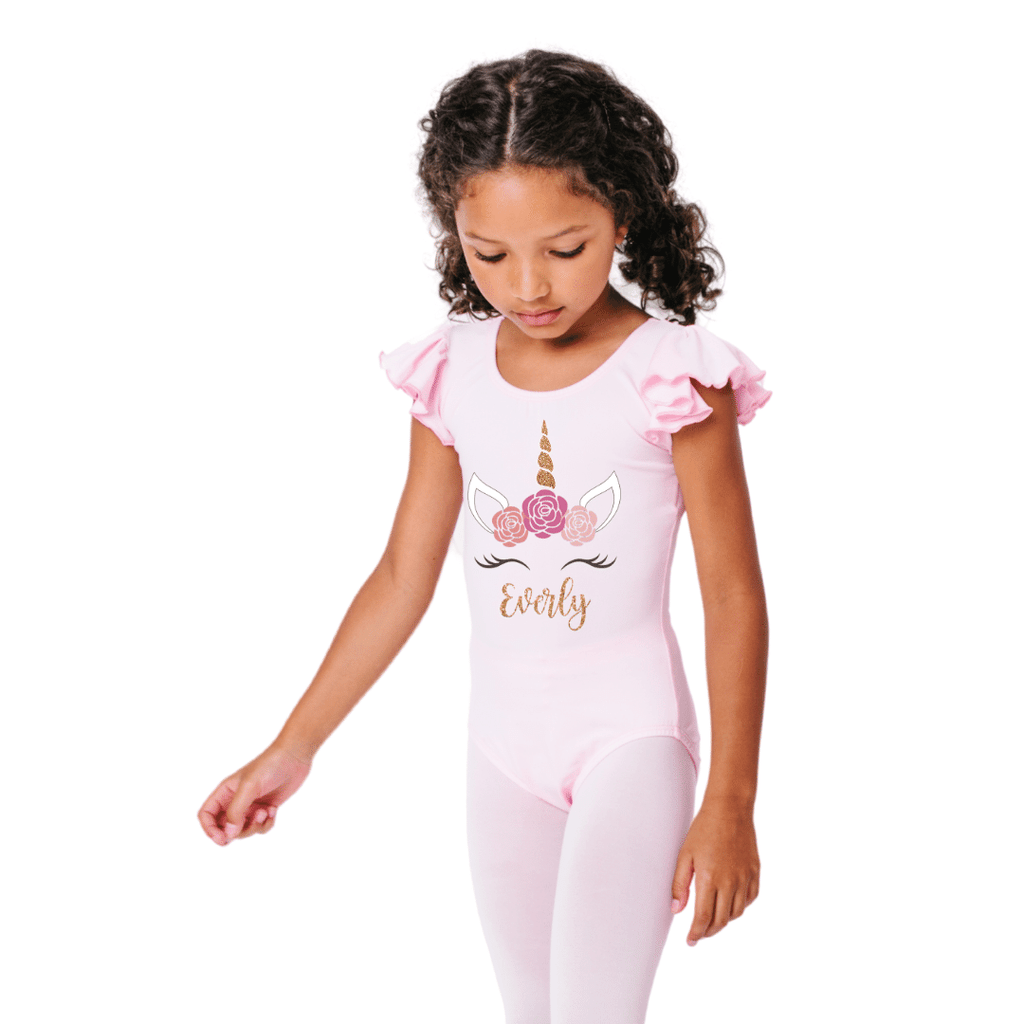 Personalized Unicorn Dance and Gymnastics Leotard for Girls