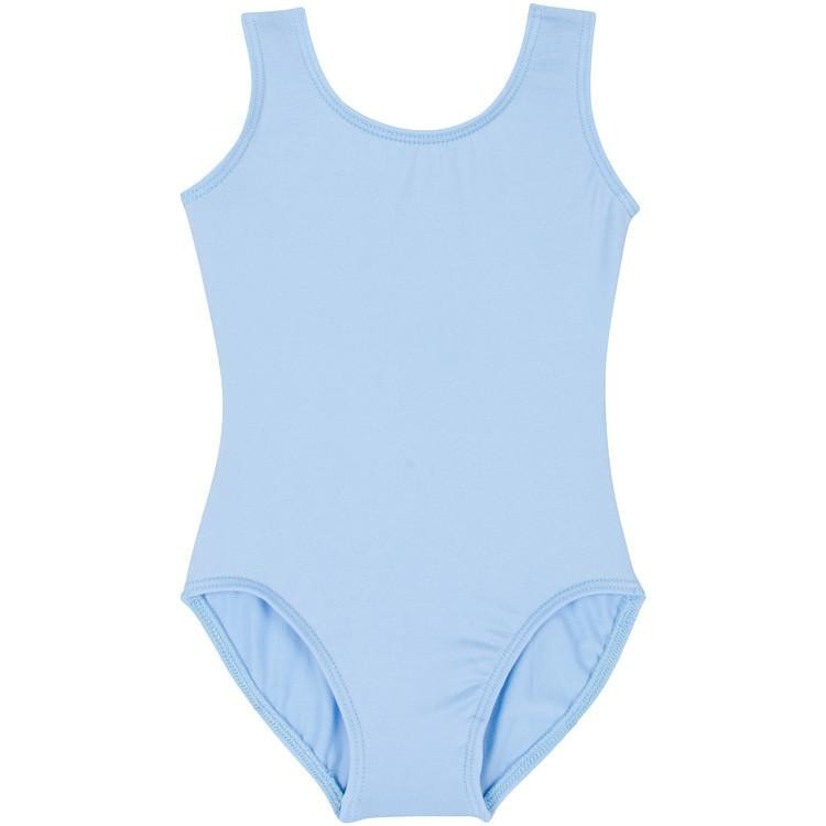 Light Blue Tank Leotard for Ballet and Gymnastics