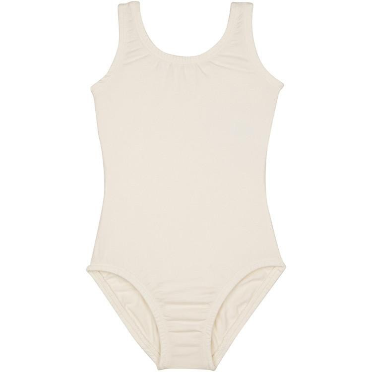 Lined Ivory Cream Toddler & Girls Ballet Tank Leotard