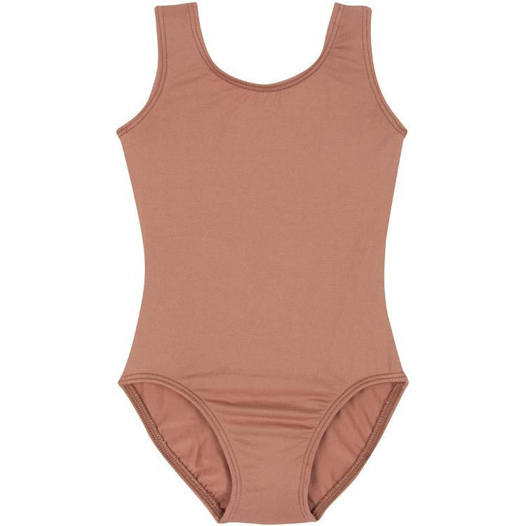 Tan Suntan Sleeveless Leotard for Toddler and Girls