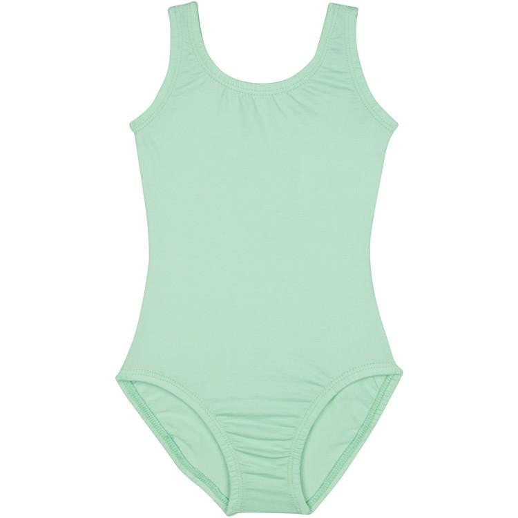Mint Green Sleeveless Tank Leotard for Girls, Kids and Toddlers