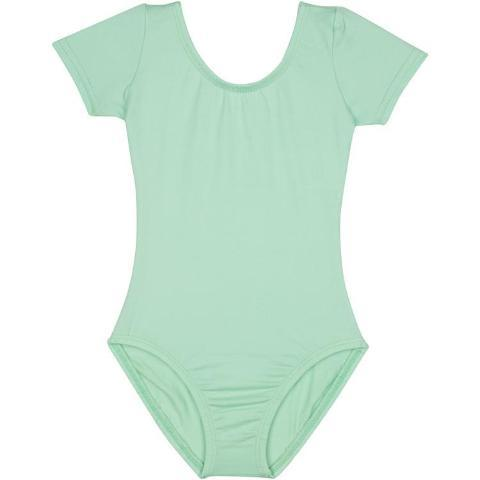 Mint Green Short Sleeve Ballet Leotard for Girls, Kids and Toddlers