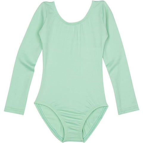 Mint Green Long Sleeve Ballet Leotard for Girls, Kids and Toddlers