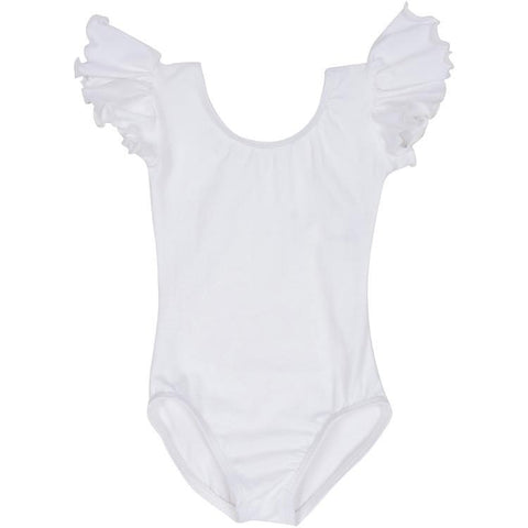 Toddler Girls White Leotard for Flower Girls and Dance
