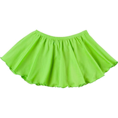 Lime Green Ruffle Ballet Dance Skirt