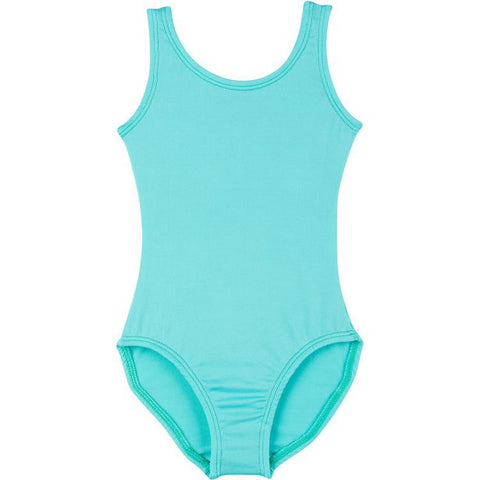 Infant, Toddler and Girls Frozen Turquoise Sleeveless Tank Dance Leotard