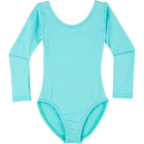Infant, Toddler and Girls Frozen Turquoise Long Sleeve Dance Leotard