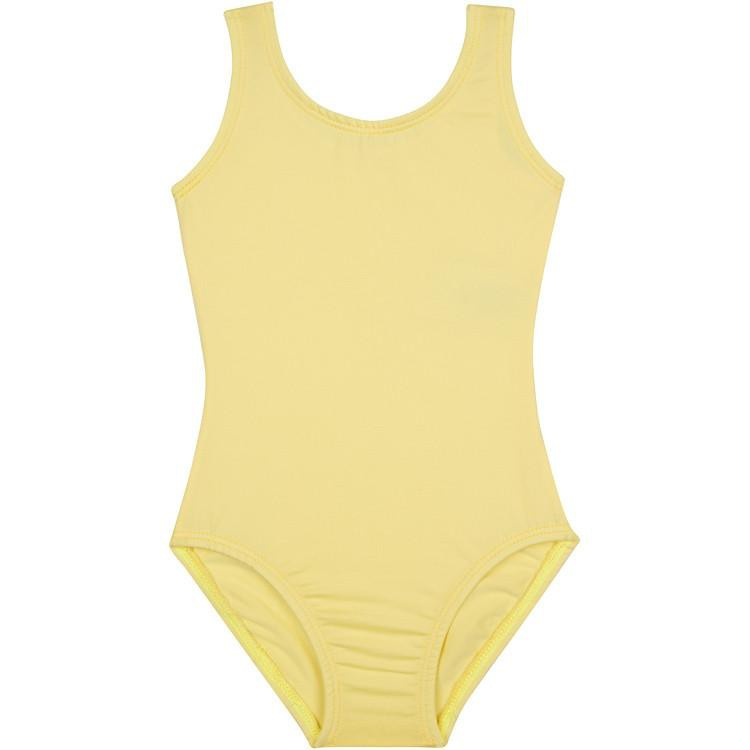 Light Yellow Sleeveless Tank Ballet Leotard