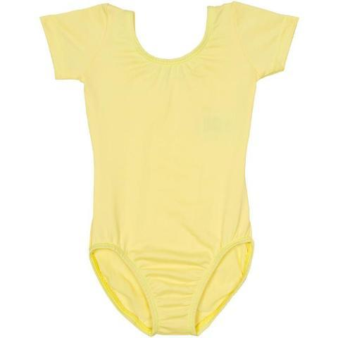 Yellow Short Sleeve Leotard for Toddler & Girls