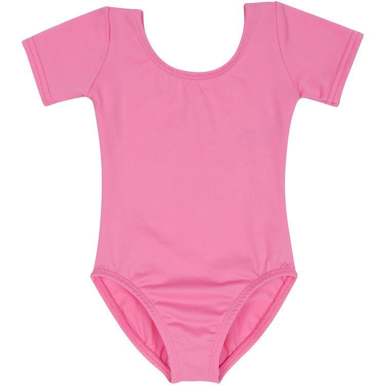 Pink Short Sleeve Leotard for Toddler and Girls