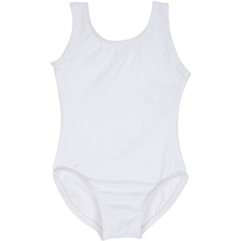 White Tank Ballet Dance Leotard for Toddler and Girls
