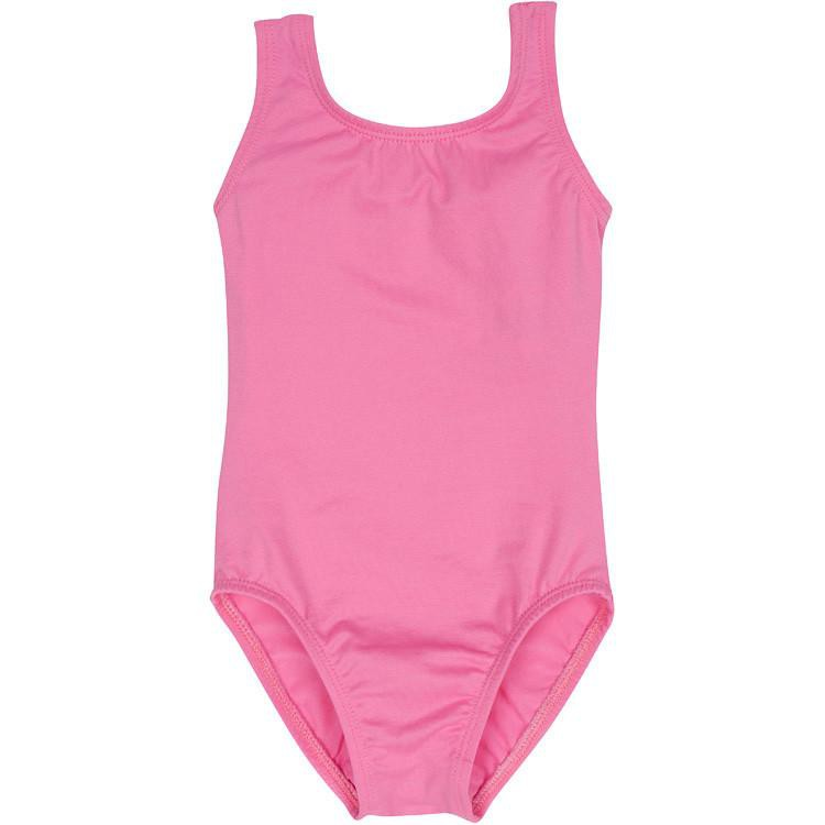 Bright Pink Tank Leotard for Ballet and Gymnastics