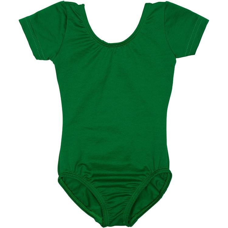 green infant and toddler girls leotard