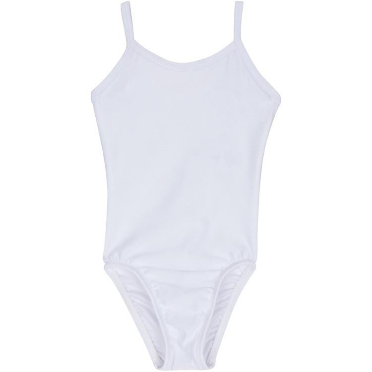 White Camisole Tank Leotard for Toddler and Girls