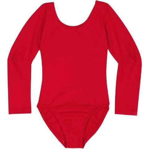 Girls Long Sleeve Red Leotard
