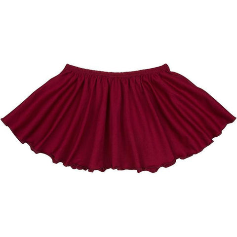 Burgundy Maroon Ruffle Dance Skirt