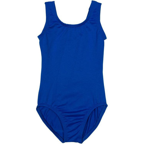 royal bright blue infant and toddler girls leotard