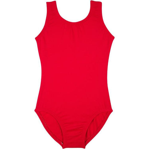 Red Sleeveless Tank Leotard for Toddlers and Girls