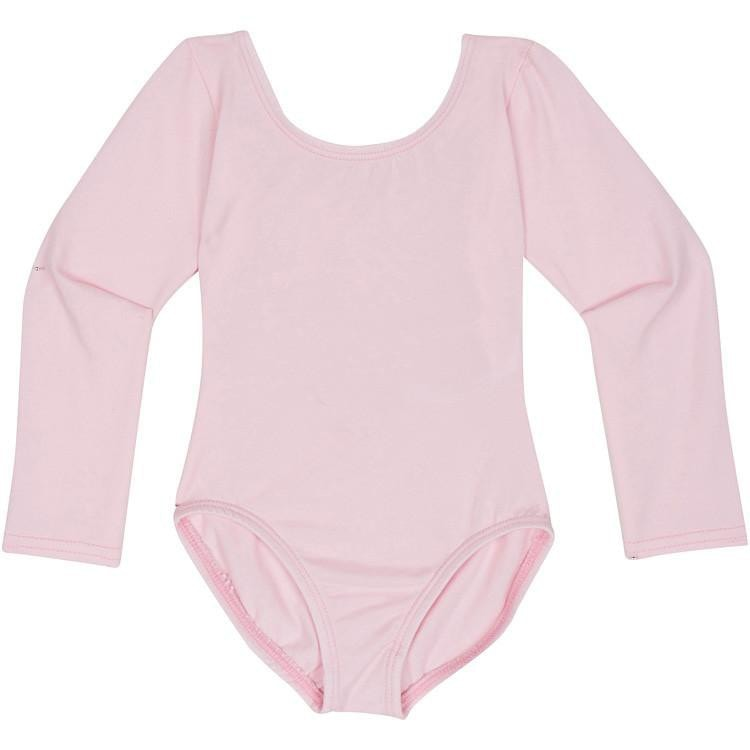 Light Pink Toddler & Girls Long Sleeve Leotard