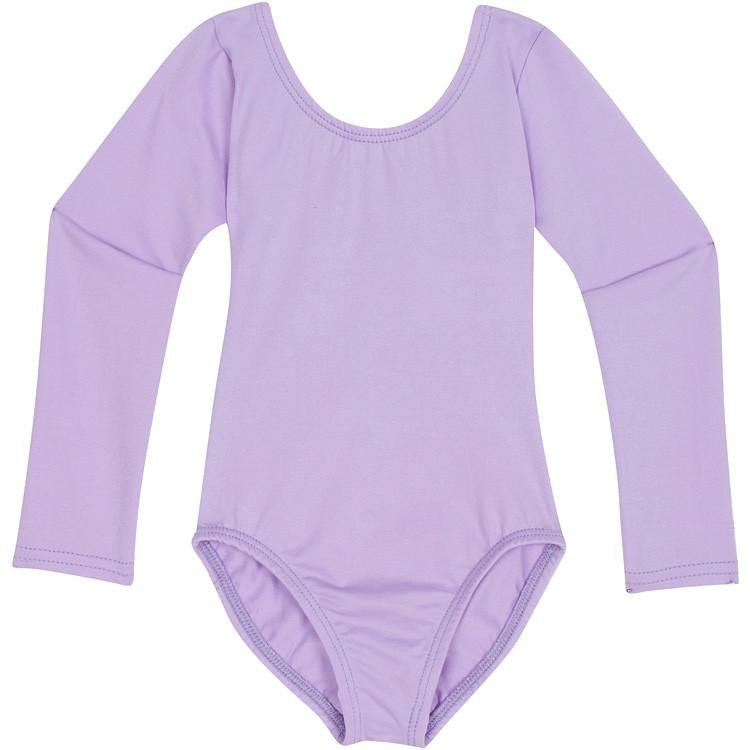 Lilac Purple Long Sleeve Leotard for Toddler and Girls