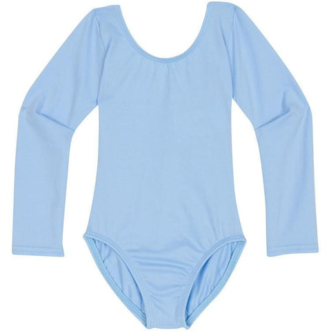 Light Blue Long Sleeve Leotard for Toddler and Girls Frozen Elsa