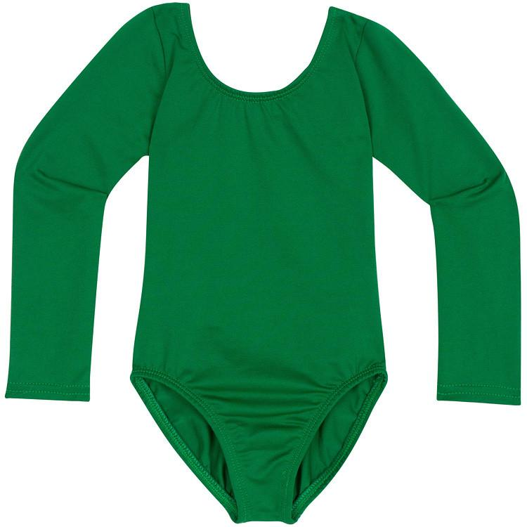 Green Long Sleeve Leotard