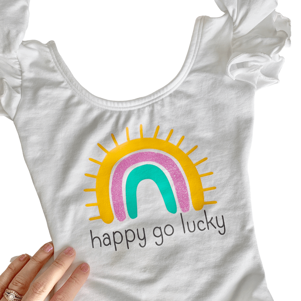 Rainbow Happy Go Lucky Leotard for Girls