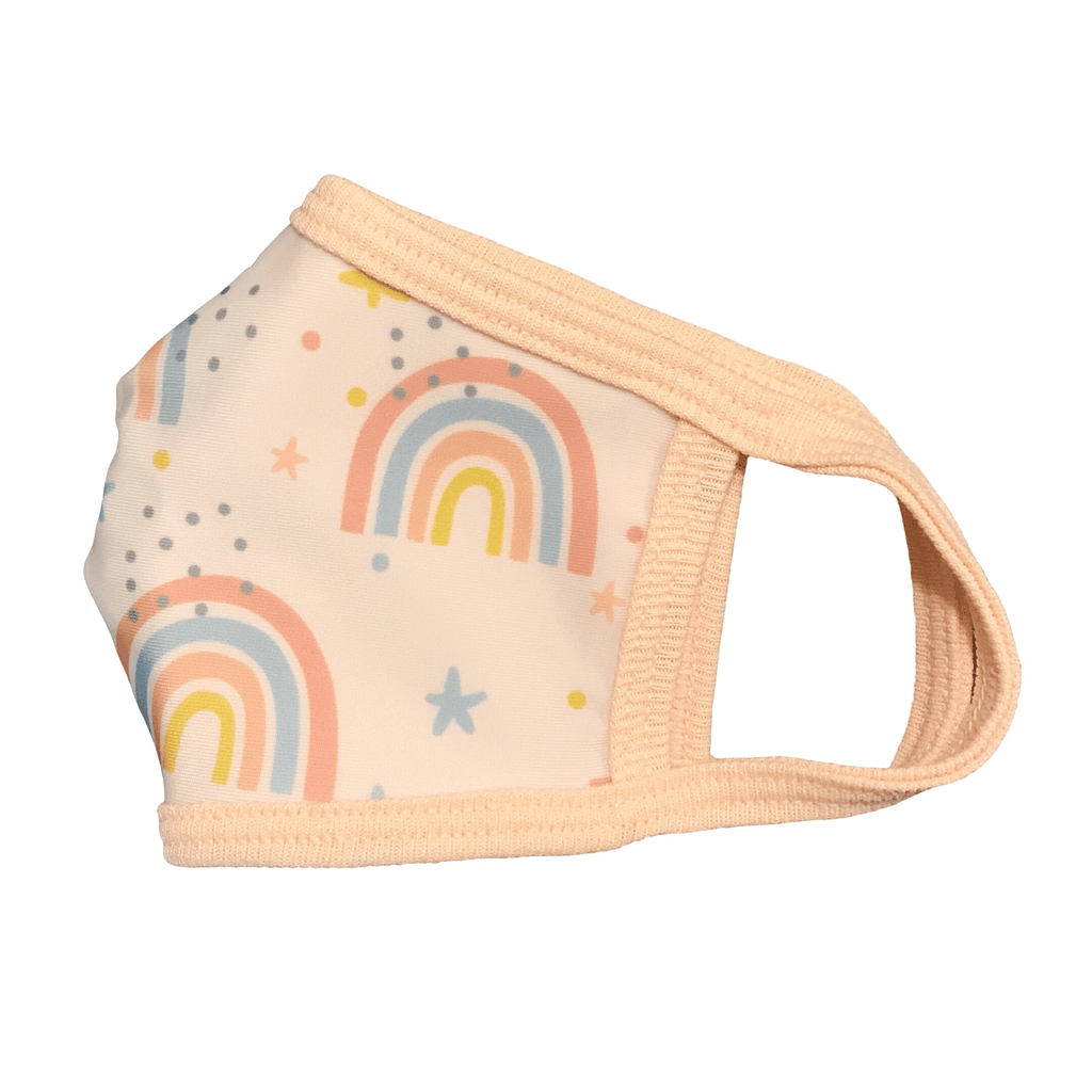 Girls Cloth Face Mask Rainbow Print