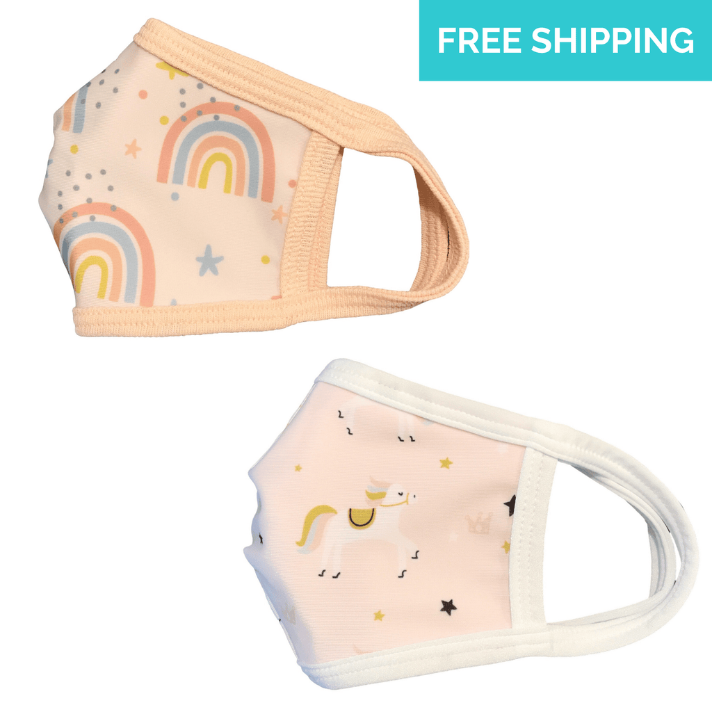 Rainbow and Unicorn Kids Face Mask
