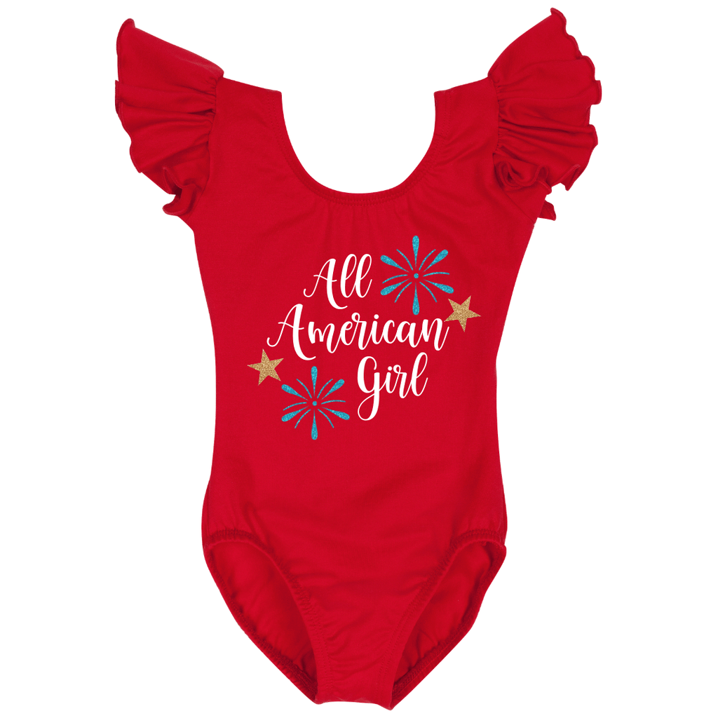 Red Fourth of July Leotard All American Girl