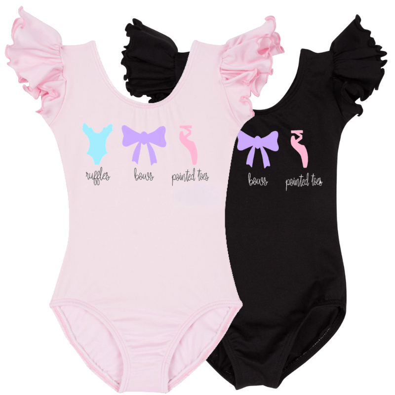 Ruffles, Bows, Pointed Toes Baby and Toddler Leotards