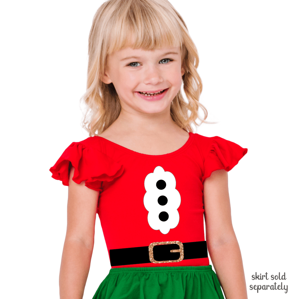Santa Claus Theme Costume Leotard for Toddlers and Girls