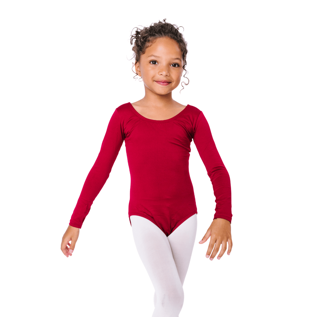 Toddler and Girls Burgundy Red Dance Leotard