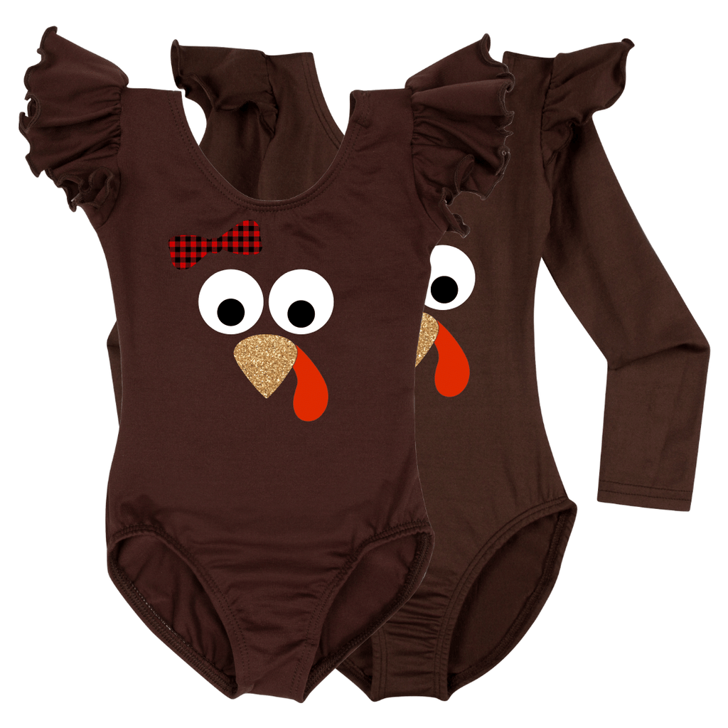 Baby Girls Thanksgiving Turkey Shirt