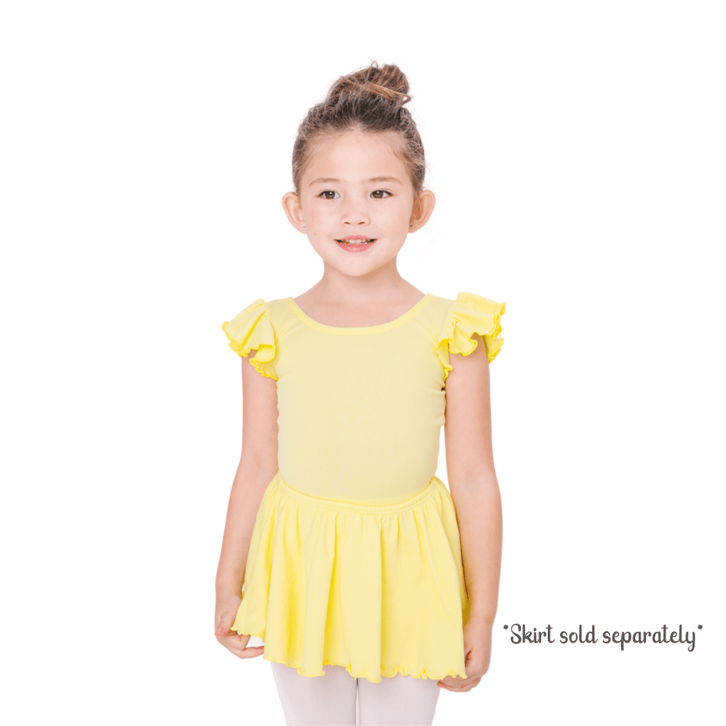Yellow Dance Bodysuit and Leotard for Girls and Toddlers