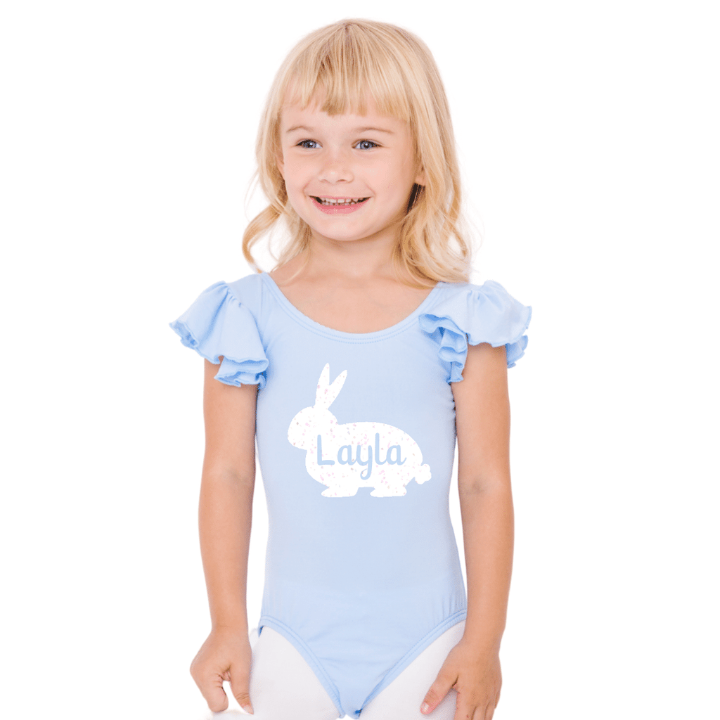 Easter Personalized Baby Bunny Girls Leotard and Bodysuit