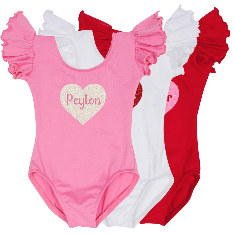 Baby and Toddler Girls Personalized Valentine Outfit
