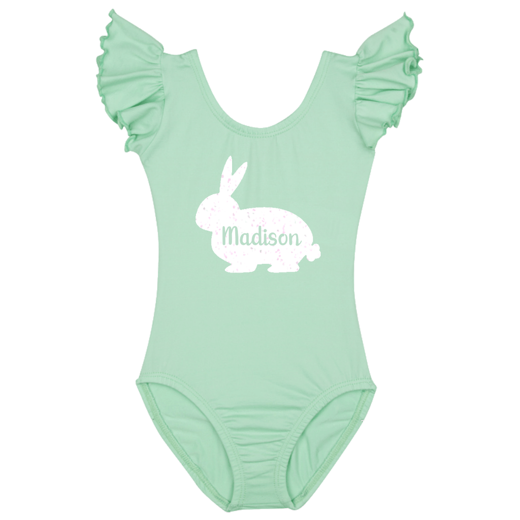 Easter Personalized Baby Bunny Bodysuit - Mint Green