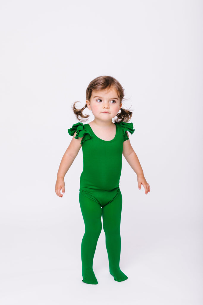 Green Girls Tights Sizes 2 Toddler - Girls 8