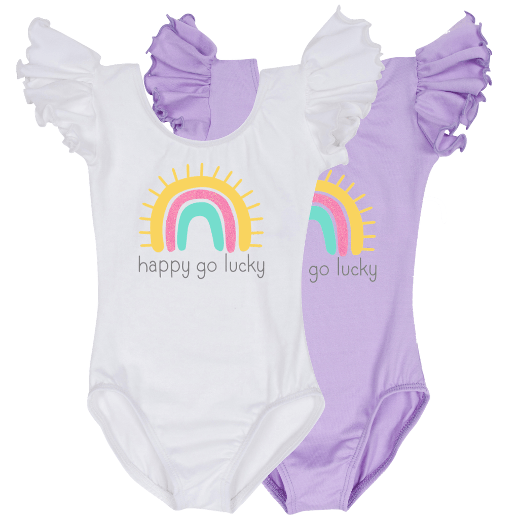 Happy Go Lucky Rainbow Girls Leotard